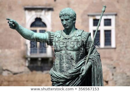 Statue CAESAR Augustus PATRIAE PATER, Rome, Italy Stock photo © vladacanon