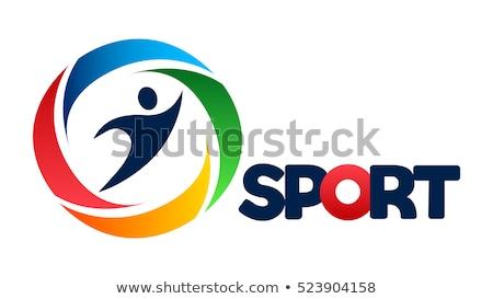 Logo for sport athletic club Stock photo © netkov1