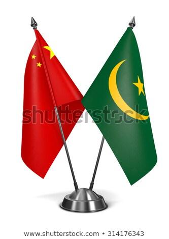 China and Mauritania - Miniature Flags. Stock photo © tashatuvango