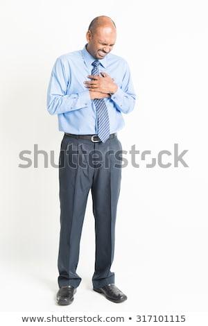 Egészalakos érett indiai férfi szívfájdalom teljes alakos Stock fotó © szefei