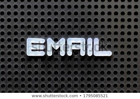 E-mail parola colore lettere scuola sfondo Foto d'archivio © fuzzbones0