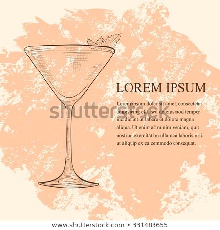 Derby cocktail gin Peach amer menthe Photo stock © netkov1