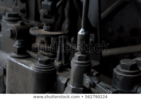 Locomotiva rodas fogo preto poder Foto stock © Paha_L