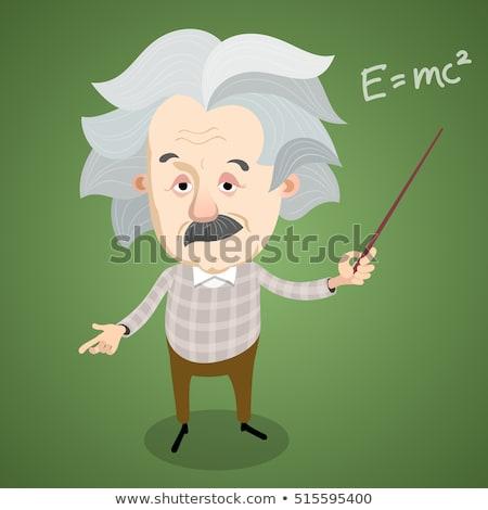 ポインティング · 男 · 教育 · 科学 · エネルギー - ストックフォト © clipartmascots