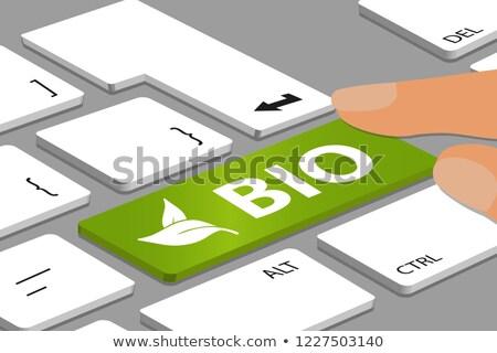 ECO Food - Concept on Green Keyboard Button. Stock photo © tashatuvango