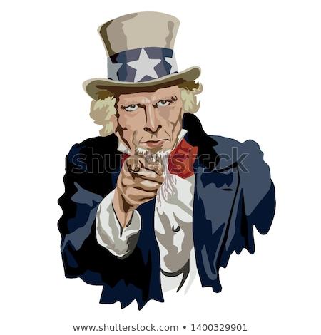 Amca karakter vatansever ikon amerikan simge Stok fotoğraf © Lightsource