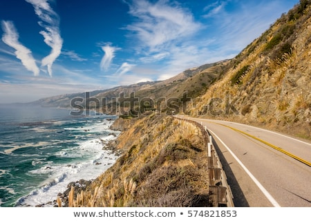 Bend in the road in California stock photo © emattil