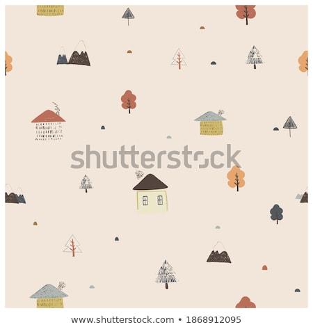 elements of settlement vector Stock photo © MaxPainter