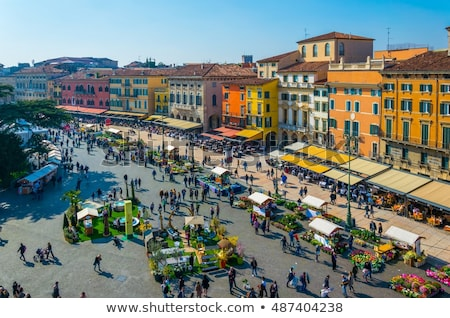 Piazza Bra in Verona Stock photo © meinzahn