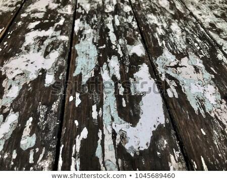 rachado · velho · verde · pintar · madeira · interessante - foto stock © taigi