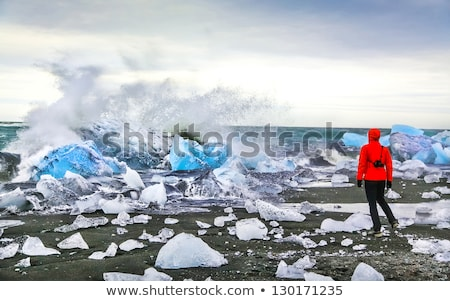 Panorama of the Jokulsarlon lagoon Stock photo © elxeneize