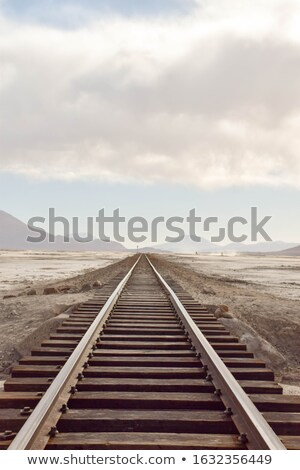 Railway in desert landscape, Bolivia Stock photo © meinzahn
