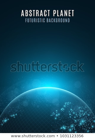 futuriste · carte · du · monde · interface · référence · carte · logiciels - photo stock © wavebreak_media