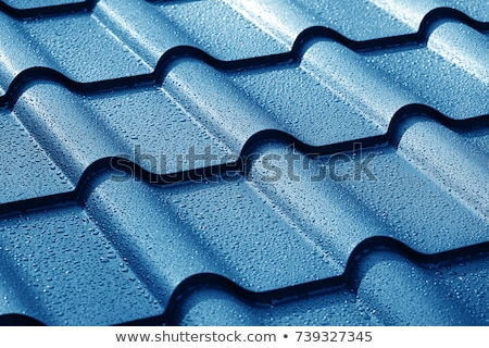 Stockfoto: Metaal · dak · tegel · textuur · bouw
