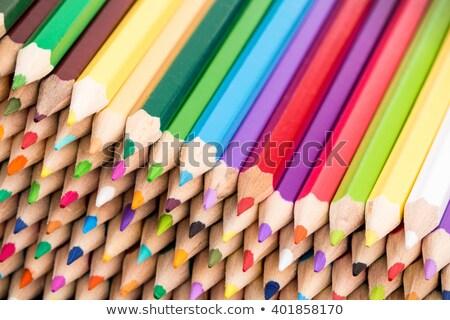 макроса выстрел цвета карандашей Сток-фото © viperfzk