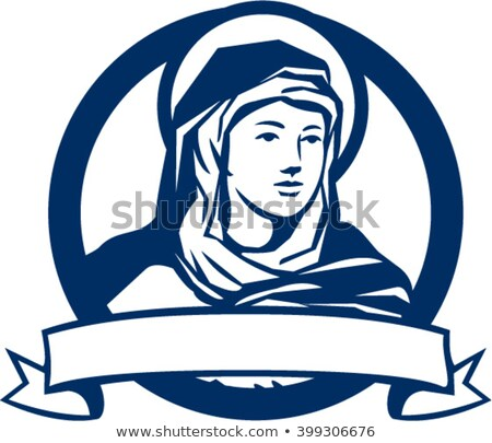 Blessed Virgin Mary Scroll Retro Stock photo © patrimonio