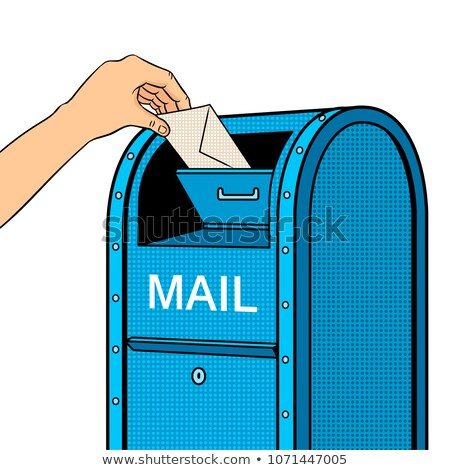 Dropping a letter into a post box, vector stock photo © jabkitticha