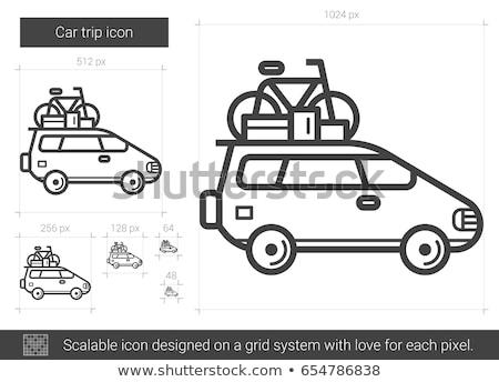 aile · seyahat · tatil · sürmek · yolculuk · araba - stok fotoğraf © rastudio
