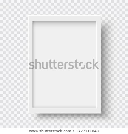Fából készült téglalap keret fehér papír fa Stock fotó © Voysla
