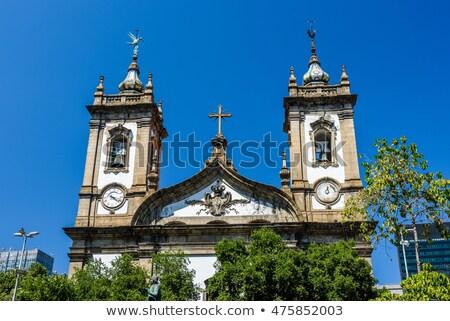 Rio de Janeiro igreja Brasil árvore edifício Foto stock © Spectral