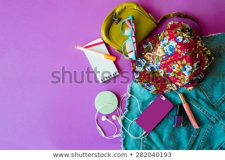 Verschillend zomer illustratie witte mode achtergrond Stockfoto © bluering