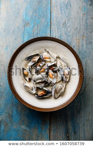 Stock photo: Clams in creamy sauce