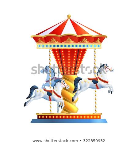回転木馬 · 実例 · 馬 · 背景 · 馬 · 公園 - ストックフォト © bluering