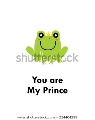 béka · herceg · mosoly · zöld - stock fotó © natalya_zimina