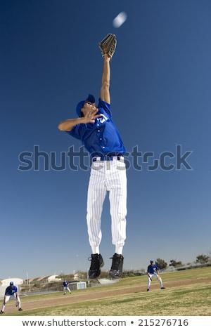 野球選手 キャッチ ボール スポーツ アイコン ストックフォト © Twinkieartcat