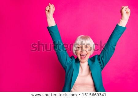 女性実業家 着用 青 ブレザー 実例 白 ストックフォト © bluering