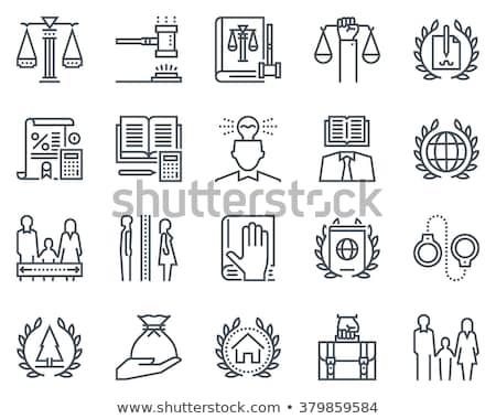avukat · simgeler · adam · mahkeme · soyut · dizayn - stok fotoğraf © genestro