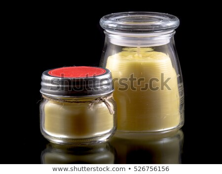 Red jar with yellow lid Stock photo © bluering