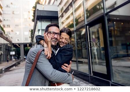 Romantikus kapcsolat munka pár fiatal cégvezetők Stock fotó © pixinoo