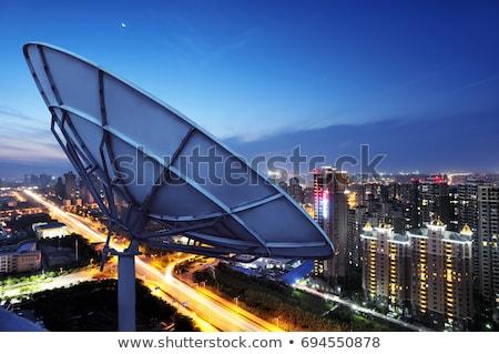 image of large parabolic satellite dish  Stock photo © OleksandrO