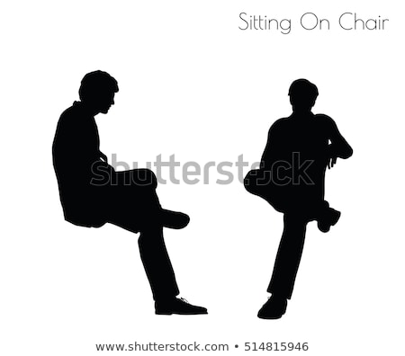 man in Sitting Pose On Chair pose Stock photo © Istanbul2009