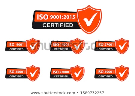 ISO 9001 certified - quality standard seal Stock photo © gomixer