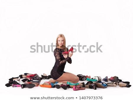 フェティッシュ · ハイヒール · 靴 · 孤立した · 白 · セクシー - ストックフォト © konradbak