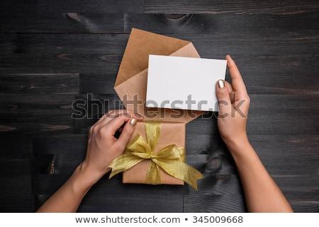 Dwa sezonowy gift card dar karty Zdjęcia stock © SArts