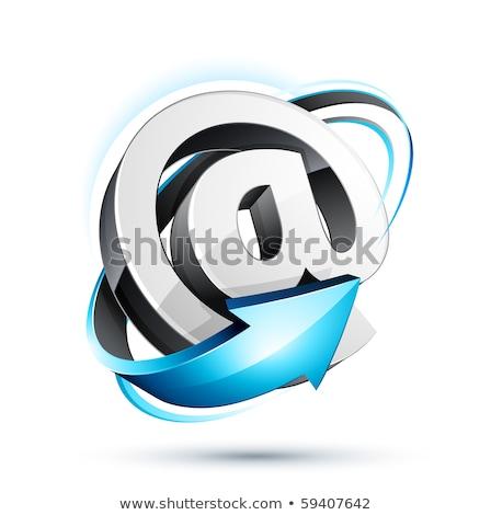 e-mail · branco · isolado · 3D · imagem · internet - foto stock © iserg