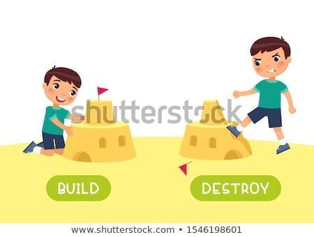 ellenkező · szavak · gyerekek · gyerekek · gyermek · háttér - stock fotó © bluering