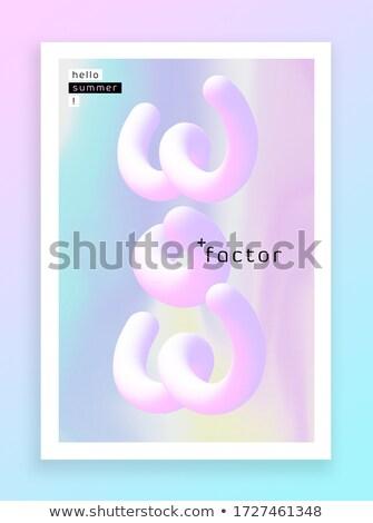 Modern vásár utalvány lila citromsárga szín Stock fotó © SArts