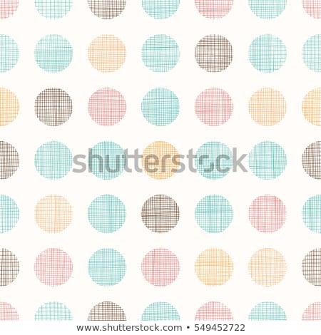Kék barna pöttyös szín tapéta minta Stock fotó © SArts