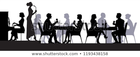 Scene with people eating in canteen Stock photo © bluering