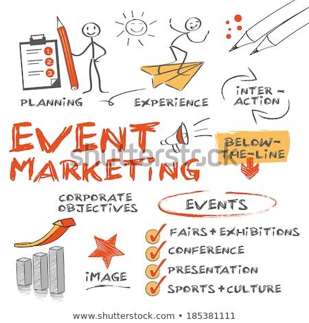 Sport event planning illustration Stock photo © kali