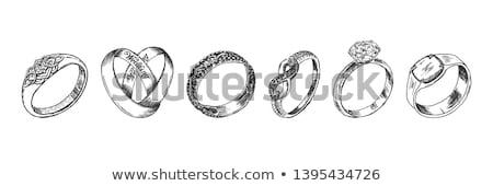 gyémánt · vektor · grafikus · retro · rajz · ékszerek - stock fotó © robuart