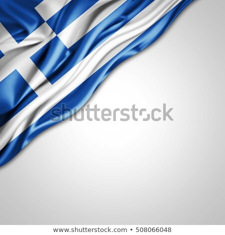 euro symbol and greek flag - 3d illustration Stock photo © drizzd