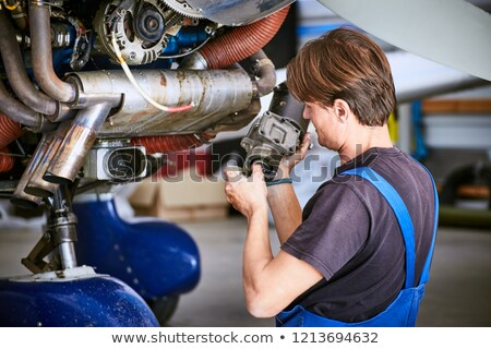 Chassis of small sport airplane Stock photo © artfotodima