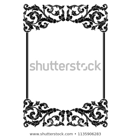 Ornamental calligraphic corners in vintage style - vector design Stock photo © blue-pen