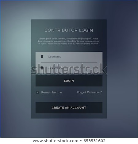 Escuro membro login forma vetor modelo de design Foto stock © SArts