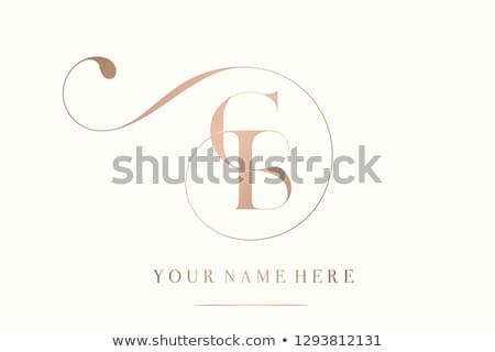 C betű logo örvények dekoráció absztrakt retro Stock fotó © SArts